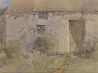 A Manx Thatched House
