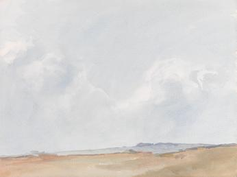 Pale sky with Cumulus Cloud