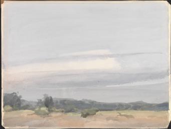 Stratus cloud over low landscape