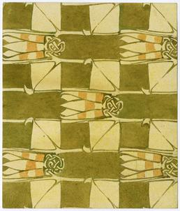 Buds and leaves design by Archibald Knox