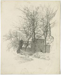 Building in trees by Archibald Knox