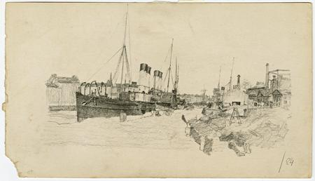 Paddle steamers by Archibald Knox