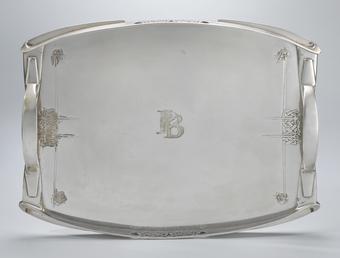 Liberty Cymric tray designed by Archibald Knox