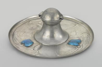 Liberty Tudric inkwell designed by Archibald Knox