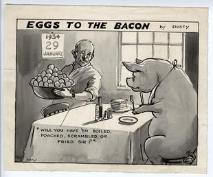 Eggs to the Bacon