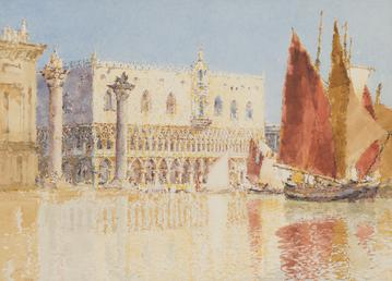 The Doge's Palace and fruit stalls