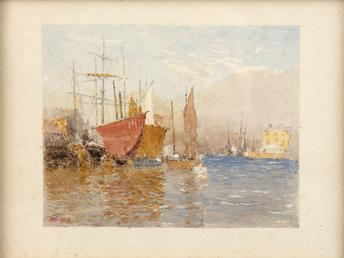 Sailing ships at South Quay, Douglas