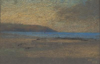Shore and sea, headland behind