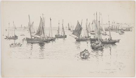 View of fishing boats and rowing boats by…