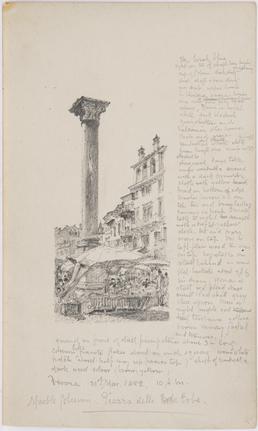 Marble column, Piazza delle Erbe