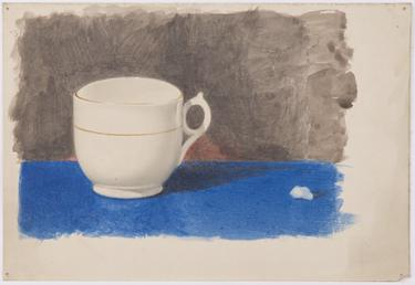 Still life of white cup