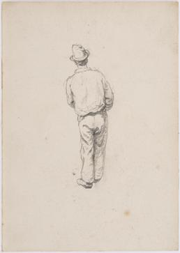 Man with hat, back view