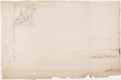 Draft for an illuminated testimonial