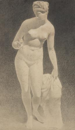 Nude female figure in a classical pose
