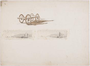 Thumbnail sketches of men and carts on Douglas…