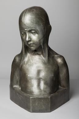 Bronze head and shoulders of a child