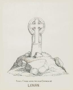 Runic Cross near the Old Church at Lonan