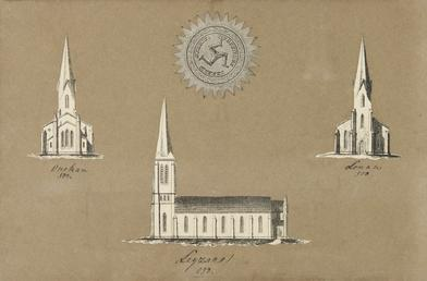 Small architectural lithographs