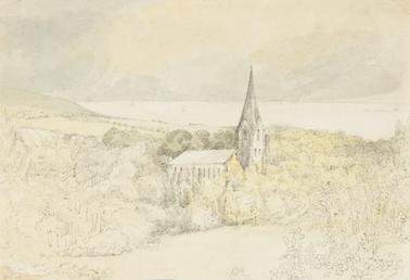 View of Onchan Church, Isle of Man