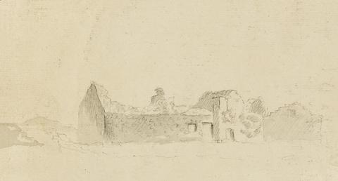 Pencil Drawing of Rushen Abbey Ruins (?)