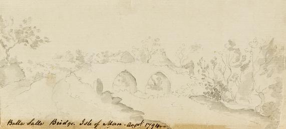 Pencil Drawing of Rushen Abbey Ruins 'Balla Salla…