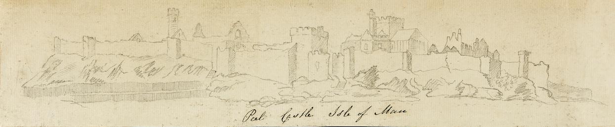 Pencil Drawing of 'Peel Castle, Isle of Man'