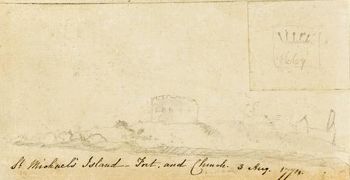 Pencil Drawing of 'St Michael's Island - Fort…