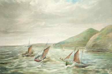 Fishing Boats off the Santan Coast