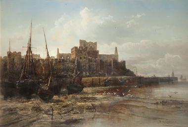 Peel Castle and Breakwater