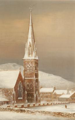 Peel church December 1890