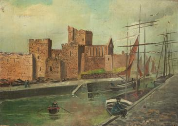 Peel Castle and Harbour