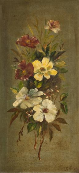 Still-life of conventionalised flowers