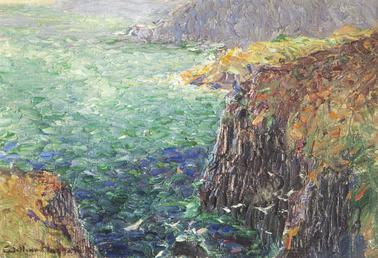 Sea and cliffs from Onchan Head