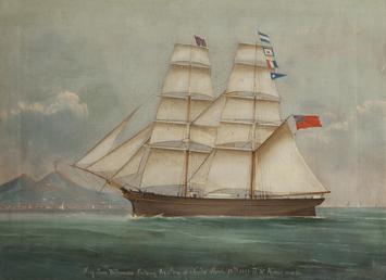 Brig 'Jane Williamson' entering Bay of Naples