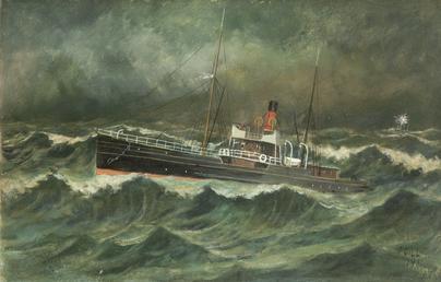 S.S. Ellan Vannin at Sea