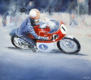 Hailwood on AJS
