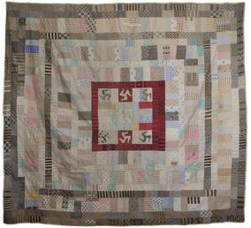 Patchwork quilt with three legs design