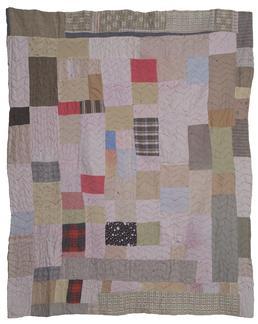 Woollen and Cotton Patchwork Quilt