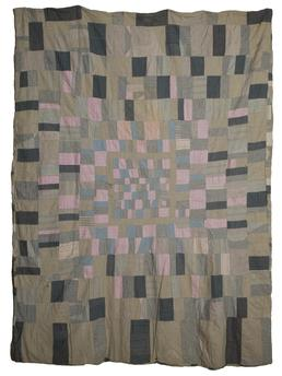 Woollen and Cotton 'Tailor's' Quilt