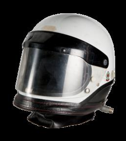 Travelling Marshal's motorcycle helmet