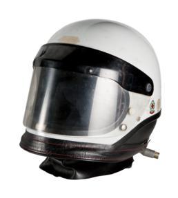 Travelling Marshal's motorcycle helmet