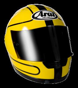 Replica of Joey Dunlop's motorcycle helmet