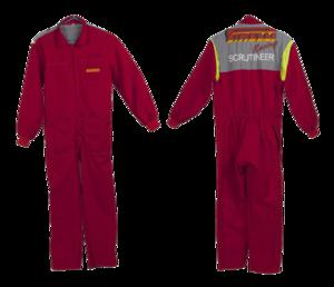Overalls worn by a scrutineer at the TT…