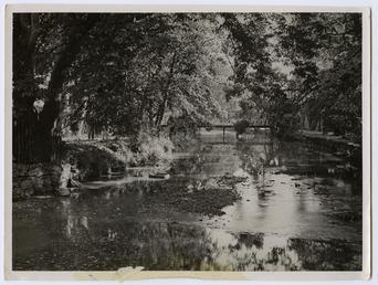 The Silverburn River at Rushen Abbey