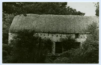 Miss Kneale's thatched cottage, The Cross, Sulby Glen