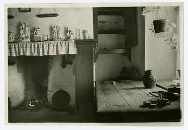 Cregneash Interior of Harry Kelly's Cottage - showing…