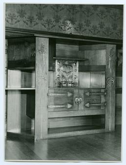 Dining room cabinet at Glencrutchery House, Douglas