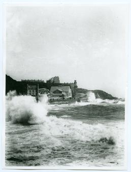 Derby Castle during a storm, Douglas