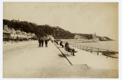 Queen's Promenade, Douglas, showing Derby Castle and station