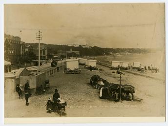 Bottom of Broadway, Douglas showing bathing machines